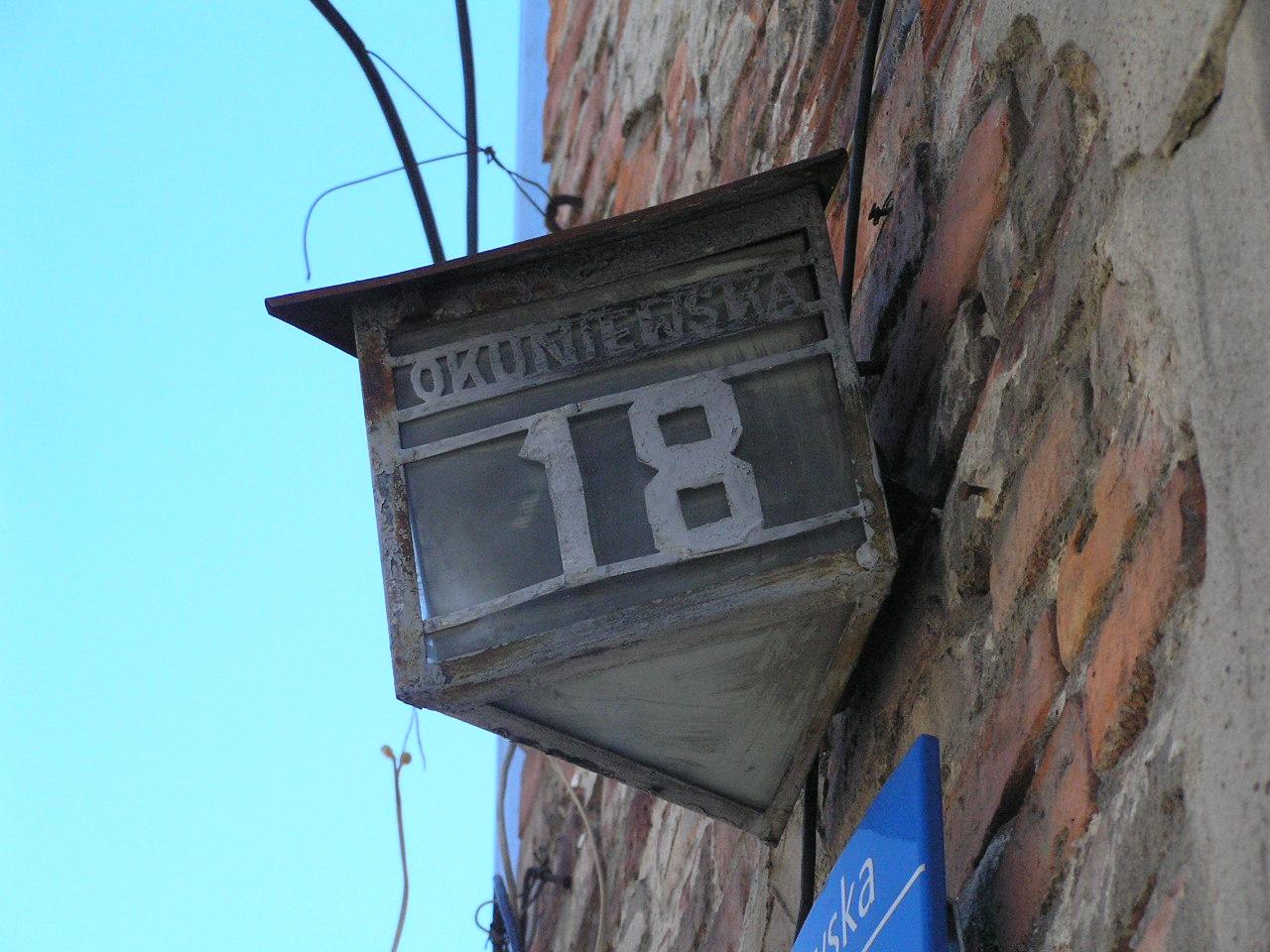 Latarenka adresowa - Okuniewska 18