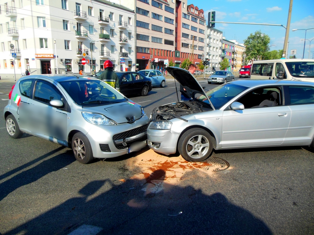 Kolizja pojazdów, fot. mł. asp. Karolina Kozak-Markevicius