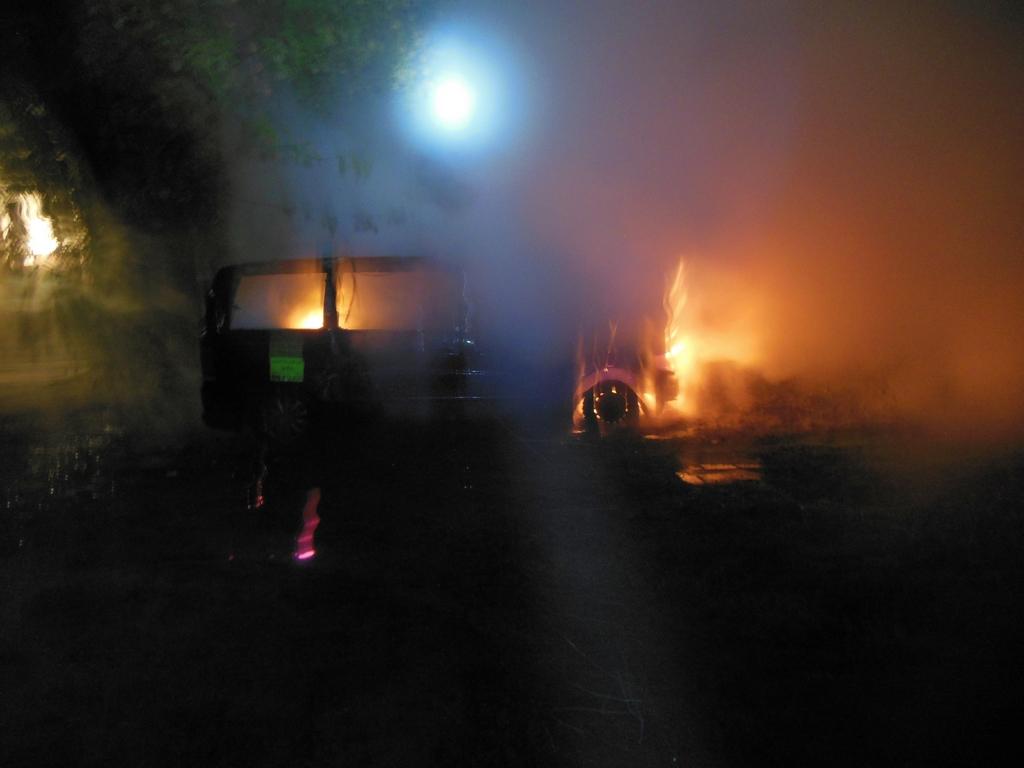 Pożar samochodu dostawczego przy Centrum Szembeka