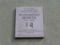 Włodzimierz Seneta - tablica pamięci na Grochowie