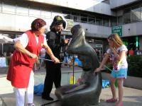 Mycie rzeźby w dniu 22 lipca 2015 r.