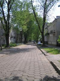 Ulica Osiecka przed remontem w 2012 roku