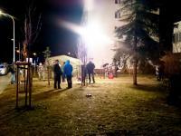 Wybuch w mieszkaniu przy Garwolińskiej 14, fot. mł. kpt. Bartłomiej Wójcik