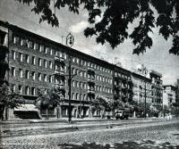 Ulica Grochowska 252/254 w latach 50-tych. źródło www.fotopolska.eu