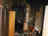 Pożar w lokalu mieszkalnym przy ulicy Czapelskiej, fot. str. Mariusz Lorent