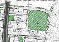 Fragment planu miejscowego z zaznaczoną ulicą Nowonizinną