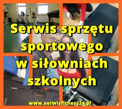 Serwis sprzętu sportowego w siłowniach szkolnych